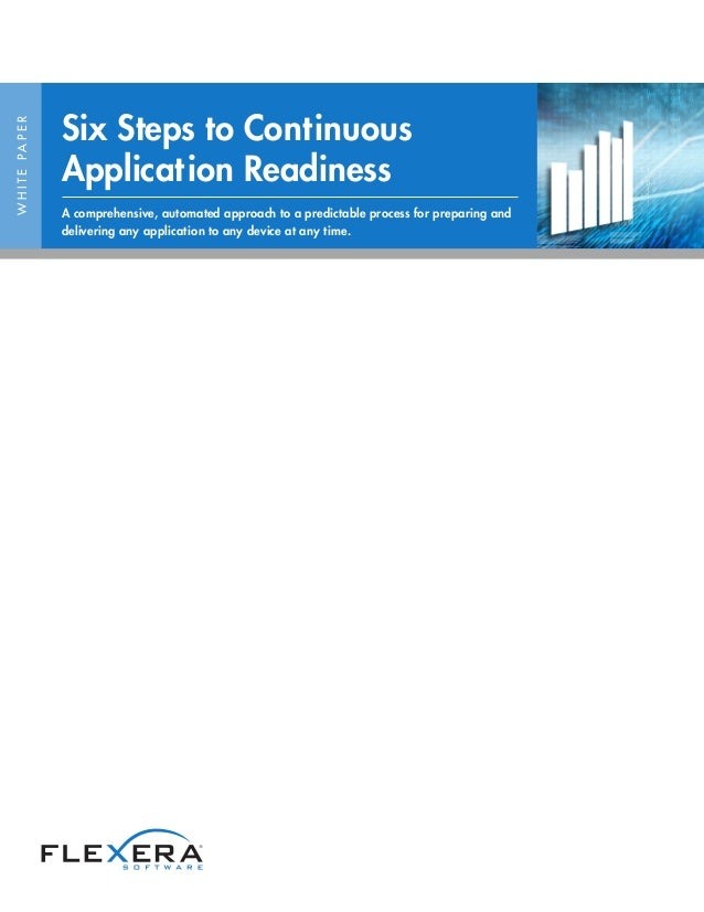 WHITEPAPER Six Steps to Continuous Application Readiness A comprehensive, automated approach to a predictable process for ...