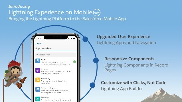 Upgraded User Experience  Lightning Apps and Navigation  Responsive Components  Lightning Components in Record  Pages  Customiz...