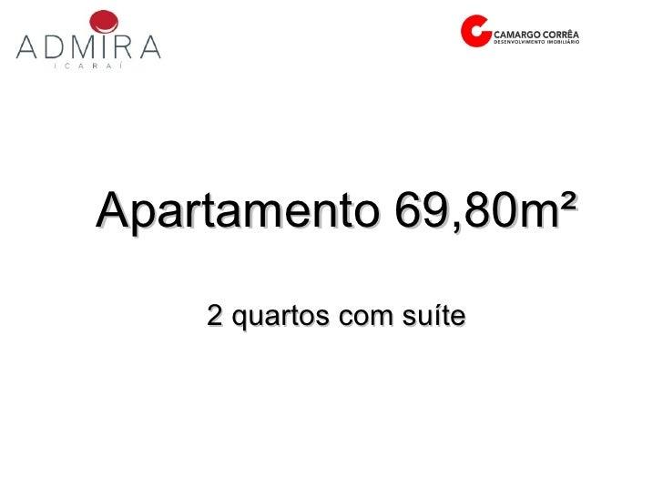 Apartamento 69,80m² 2 quartos com suíte