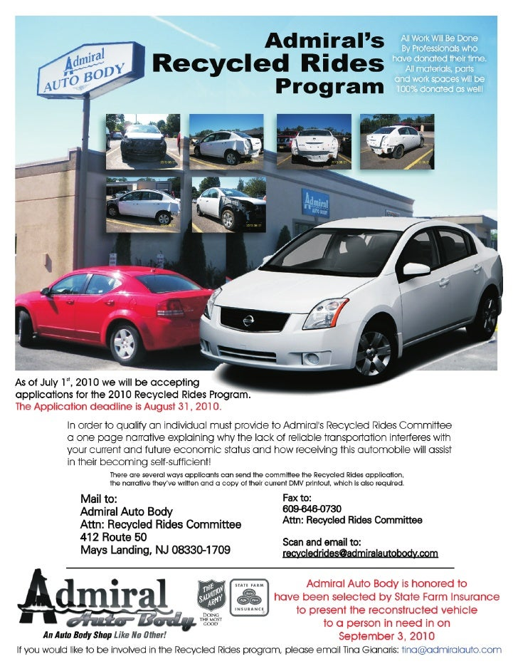 Recycled Rides Program and Admiral Auto Group Create a Miracle NJ