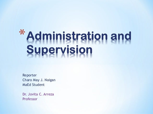 scope of supervision ppt
