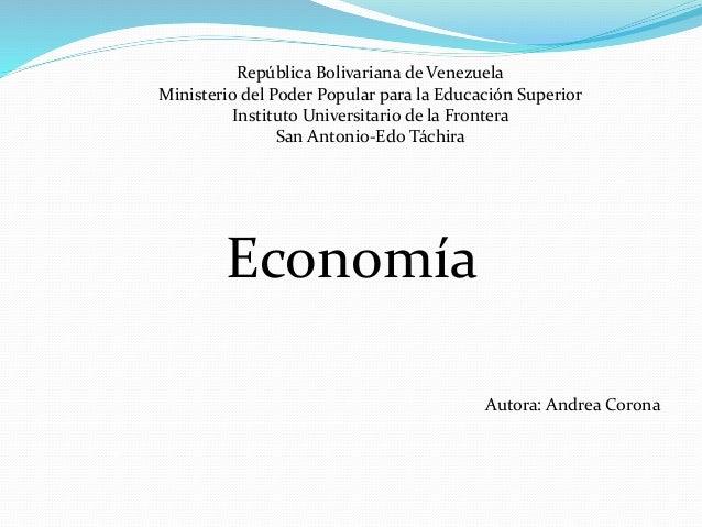 República Bolivariana de Venezuela Ministerio del Poder Popular para la Educación Superior Instituto Universitario de la F...