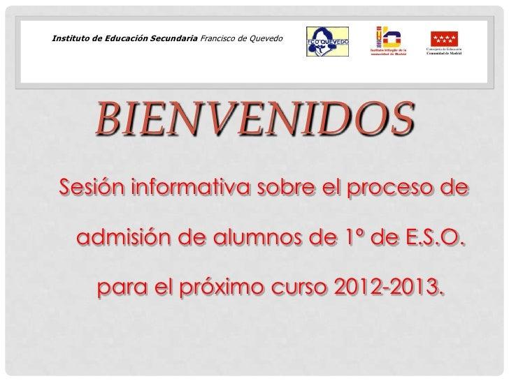 Instituto de Educación Secundaria Francisco de Quevedo                                                         Consejería ...