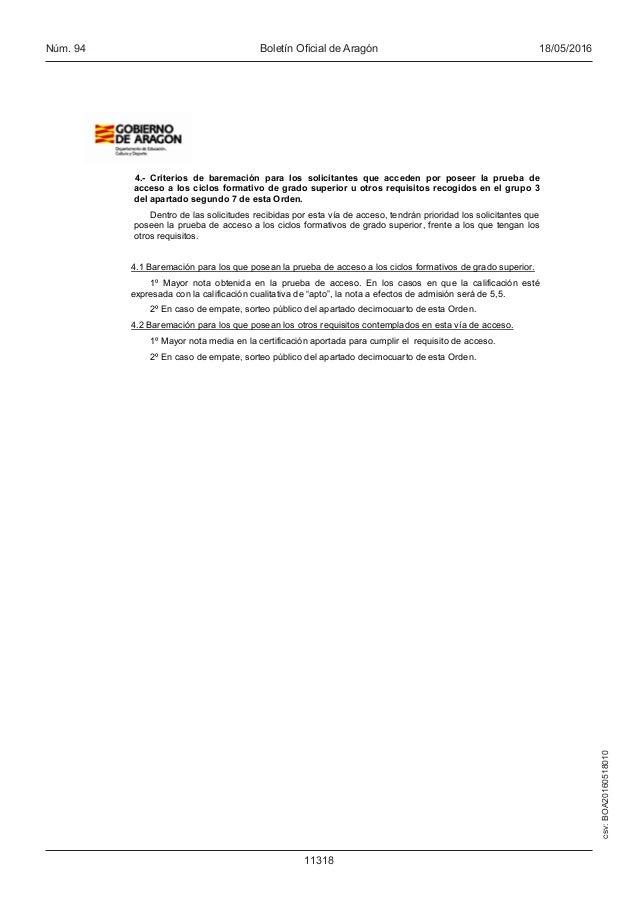 Proceso Admisión Formacion Profesional 2016 17