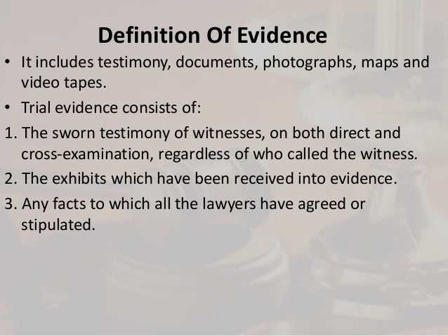 Admissibility of forensic evidence in the court of law