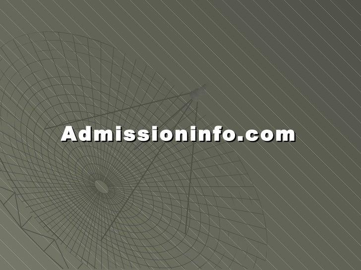 Admission info