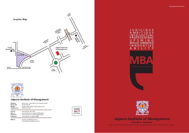 www.jaipuria.edu.in/jim Address : Sector-14-C, Vasundhara, Ghaziabad-201012 Phone No. : 0120-4550100 Mobile : 9958222099, ...