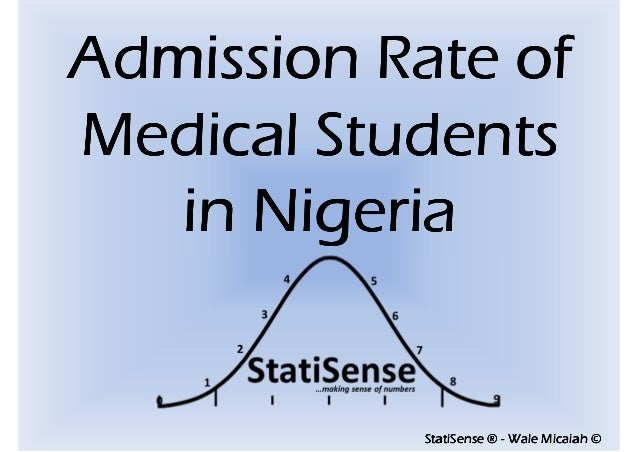StatiSenseStatiSenseStatiSenseStatiSense ®®®® ---- Wale Micaiah ©Wale Micaiah ©Wale Micaiah ©Wale Micaiah © Admission Rate...