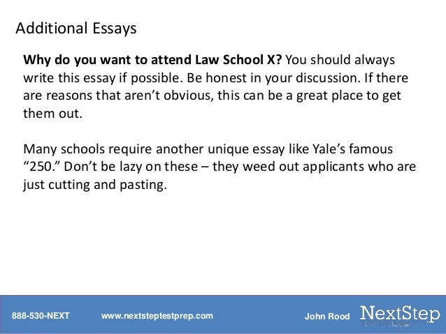 Law application essay
