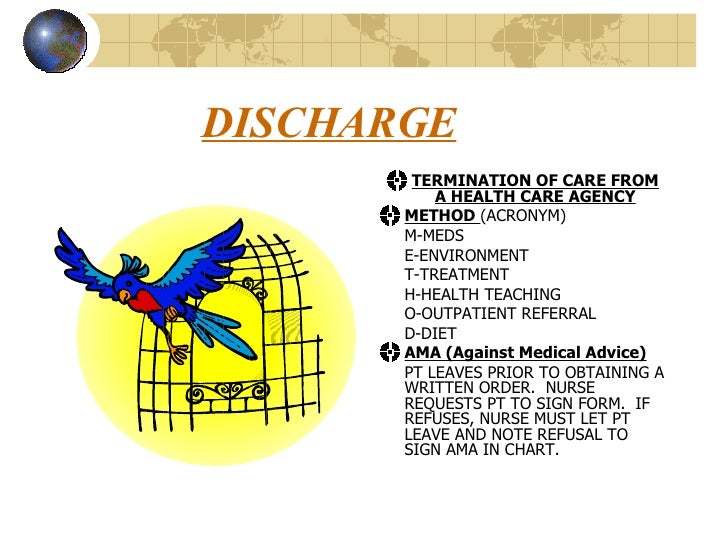 AdmitDischarge Powerpoint – Sample Against Medical Advice Form