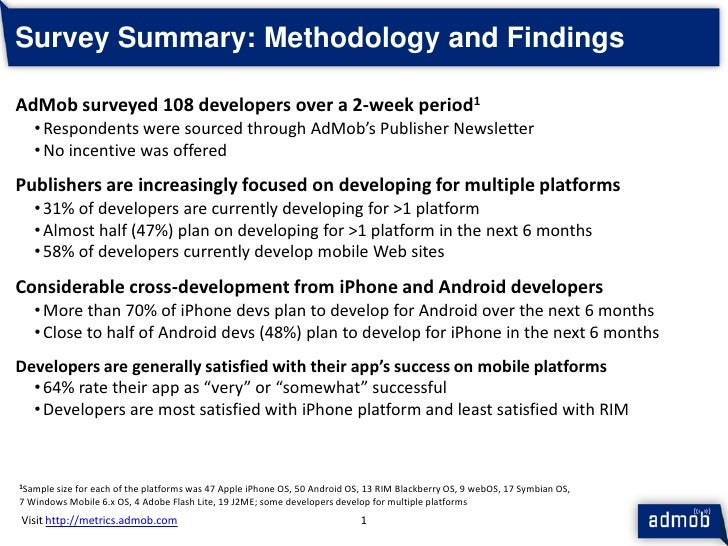 Ad Mob Mobile Metrics Mar 10 Publisher Survey Slide 2