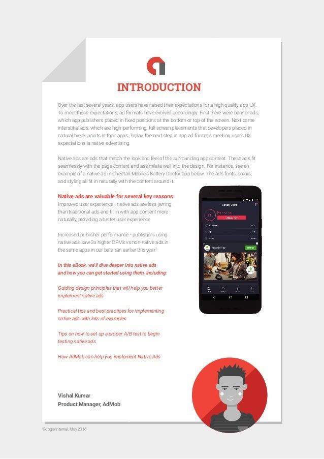 Admob native ads guide ebook by Google