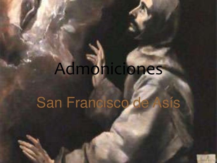 AdmonicionesSan Francisco de Asís