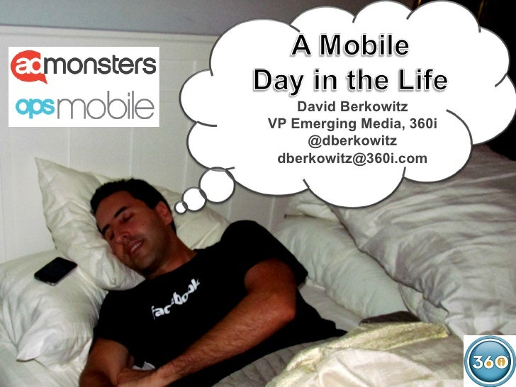 David BerkowitzVP Emerging Media, 360i     @dberkowitz dberkowitz@360i.com                          1