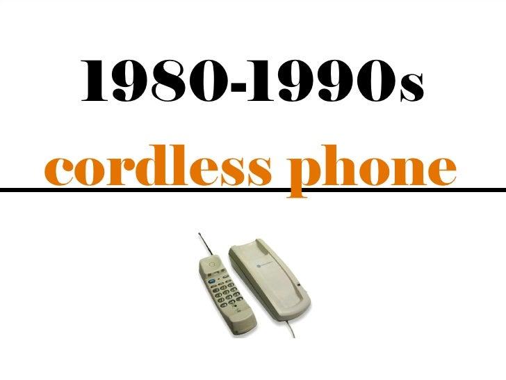 1980-1990scordless phone                 5