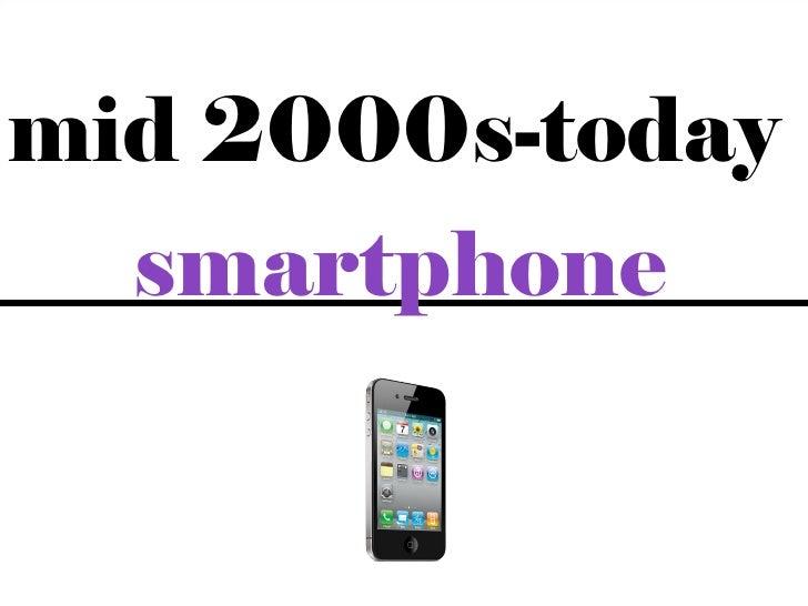 mid 2000s-today  smartphone              7