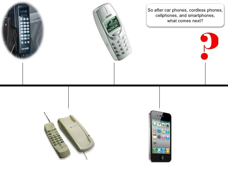 So after car phones, cordless phones,   cellphones, and smartphones,          what comes next?                        ?   ...