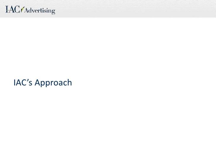 IAC's Approach<br />