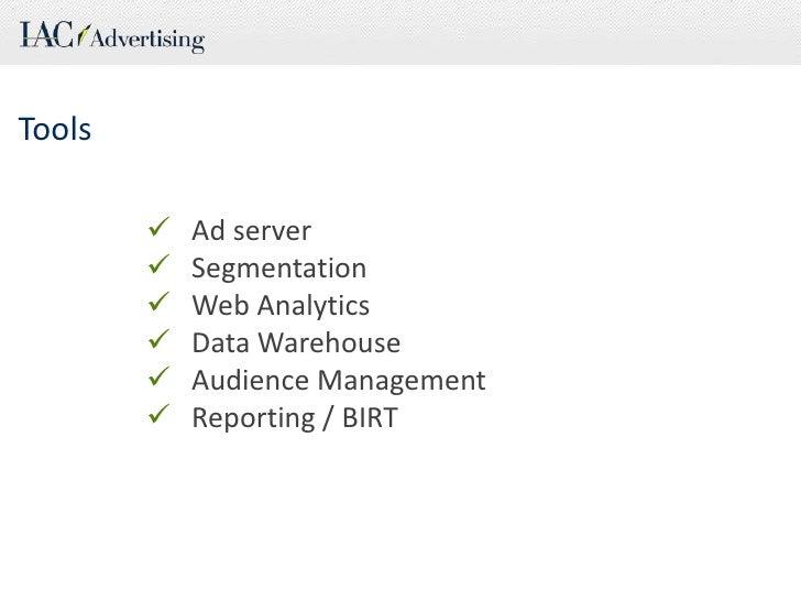 Tools<br /><ul><li>Ad server