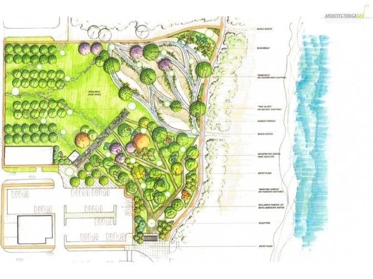 Altos Del Mar Sculpture Park Landscape Design Concept