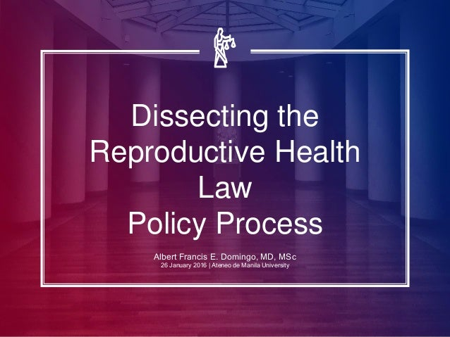 reproductive health bill The reproductive health access project (rhap) trains and supports clinicians to make abortion, contraception, and miscarriage care accessible to everyone.