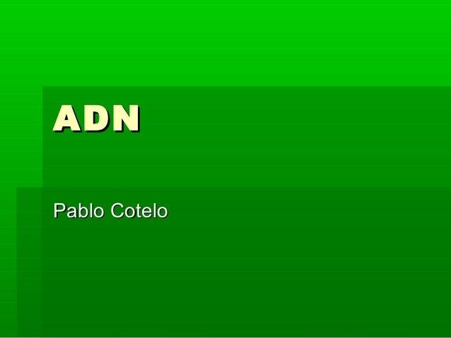 ADNADN Pablo CoteloPablo Cotelo