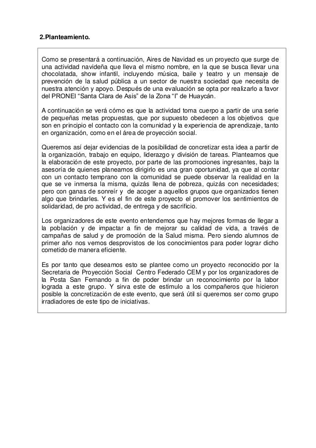 INFORME DE AIRES DE NAVIDAD. en el 2012