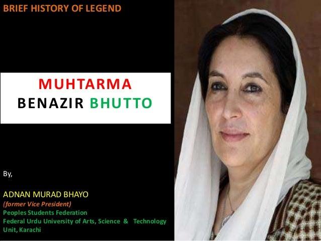 benazir bhutto short biography