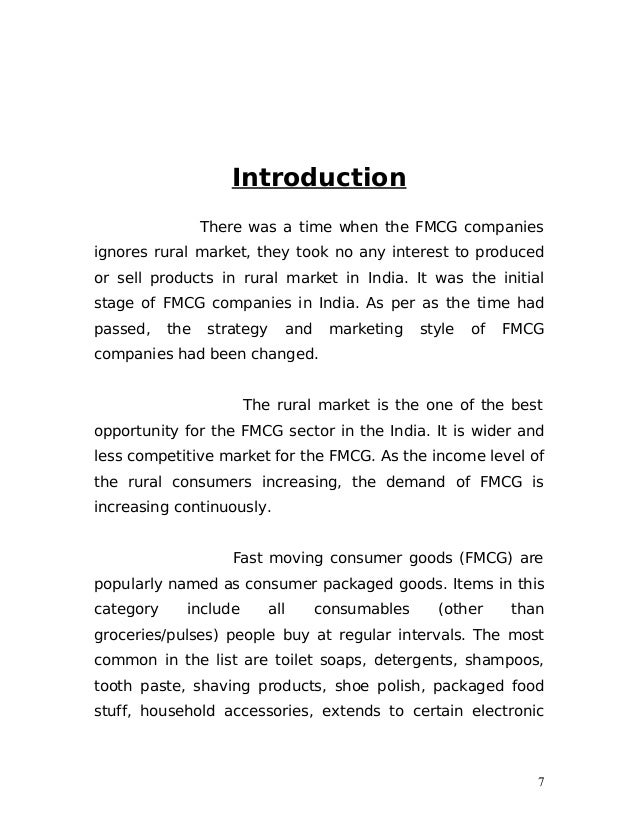 download dissertation report on fmcg product Forecasting techniques in fast moving this research contains supply chain analysis of fast moving consumer goods it focuses on the return/stale products.