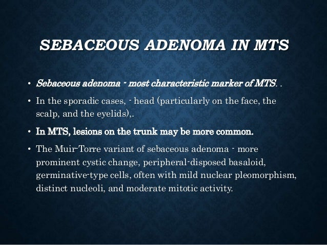 Adnexal tumours of the skin and familial syndromes.