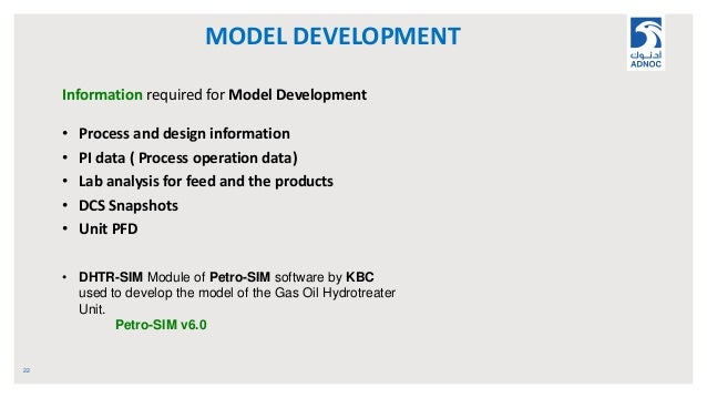 MODEL DEVELOPMENT 22 Information required for Model Development • Process and design information • PI data ( Process opera...