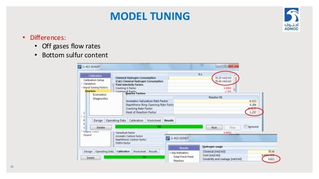 MODEL TUNING 25 • Differences: • Off gases flow rates • Bottom sulfur content