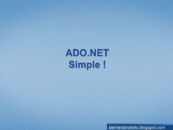 ADO.NET Overview | Microsoft Docs