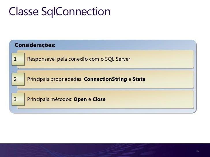 Demonstração 1   Criando Conexões com o Banco de Dados 2   Criando as Procedures (Select, Insert, Update, Delete) pelo Ser...