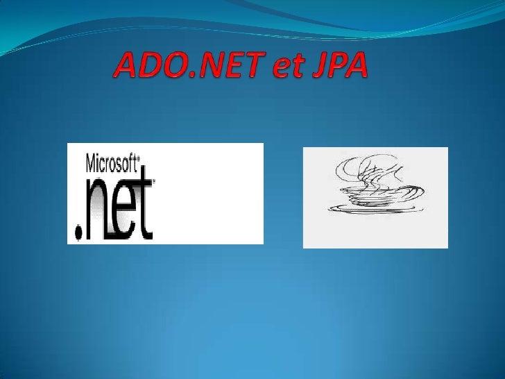 ADO.NET et JPA <br />