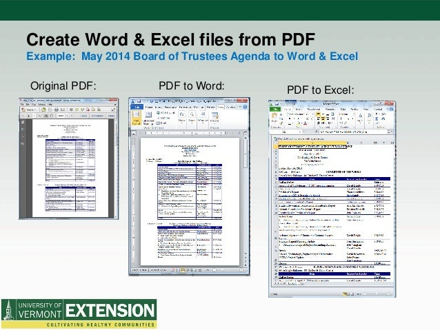 acrobat pro pdf to excel