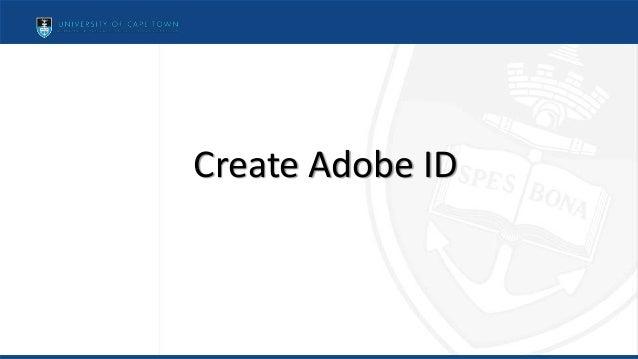 Create Adobe ID