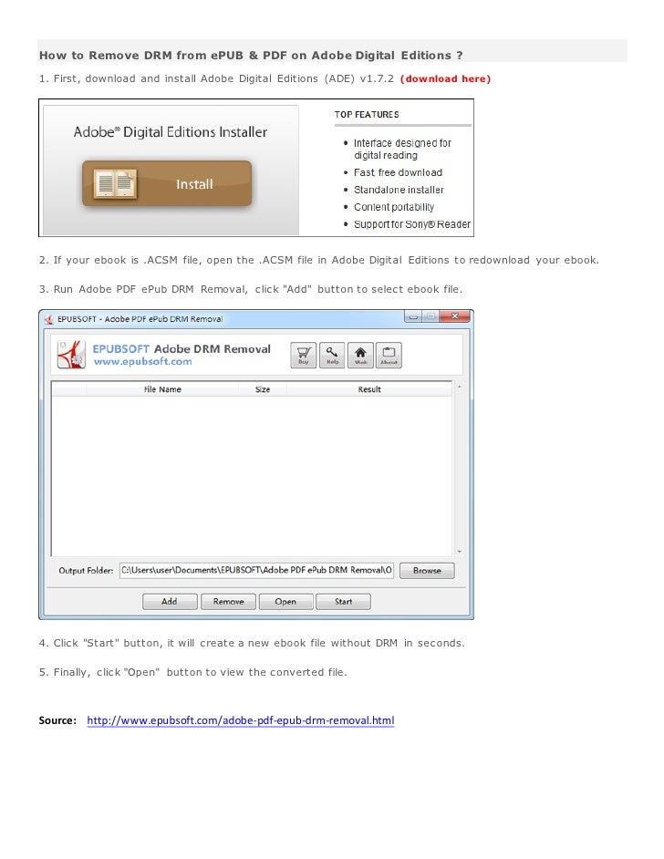 Adobe pdf epub drm removal crack