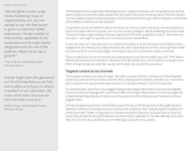 """Adobe Customer Story """"We had great success using Adobe Marketing Cloud on LegalSolutions.com, and we wanted to tap into th..."""