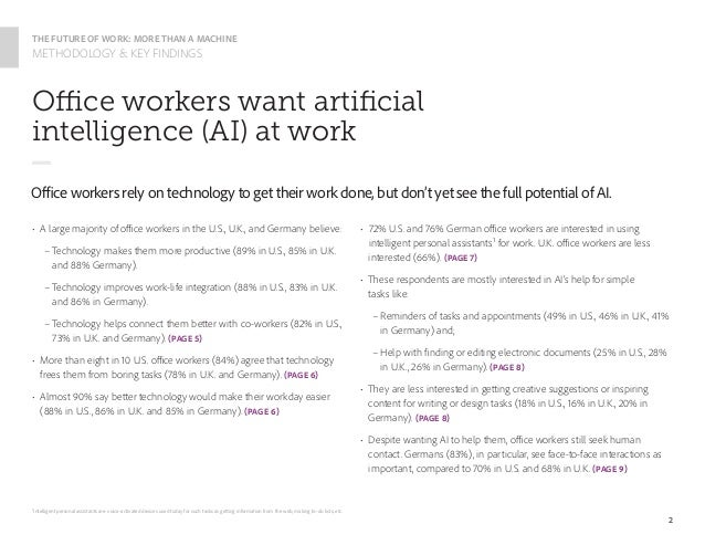 The Future of Work: More than a Machine Slide 3