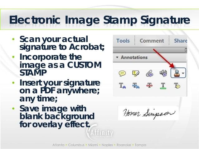 9 Electronic Image Stamp Signatureo