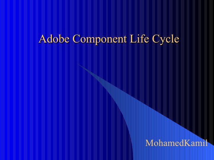 Adobe Component Life Cycle MohamedKamil