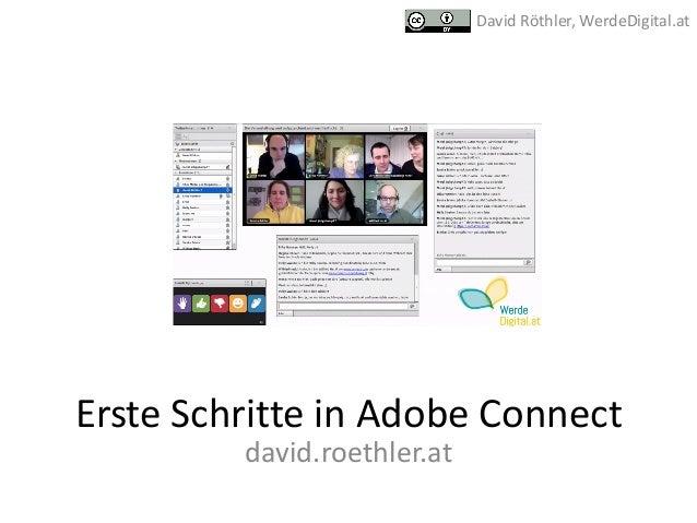 ErsteSchritteinAdobeConnect david.roethler.at DavidRöthler,WerdeDigital.at