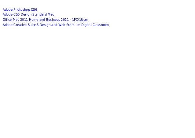 Adobe Cs6 Design And Web Premium Mac