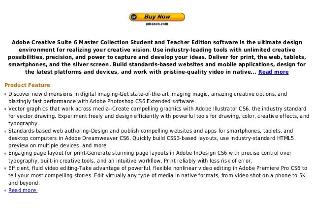 Adobe creative suite 6 master collection student and teacher edition discount
