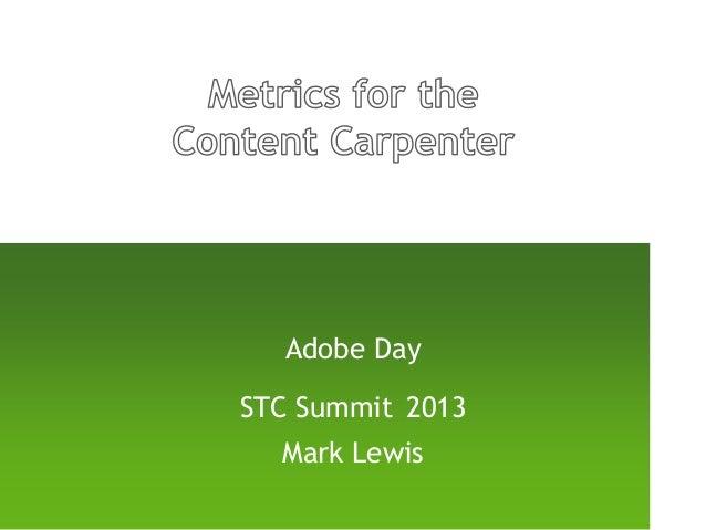 Adobe DaySTC Summit 2013Mark Lewis