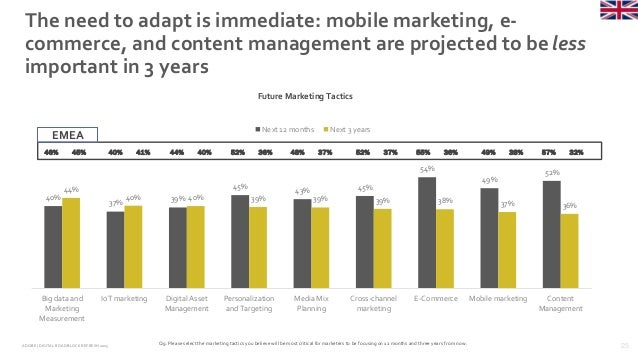 25ADOBE | DIGITAL ROADBLOCKREFRESH 2015 The need to adapt is immediate: mobile marketing, e- commerce, and content managem...