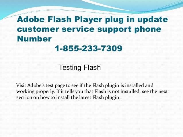 1-855-233-7309 Adobe flash player plug in update customer service pho…