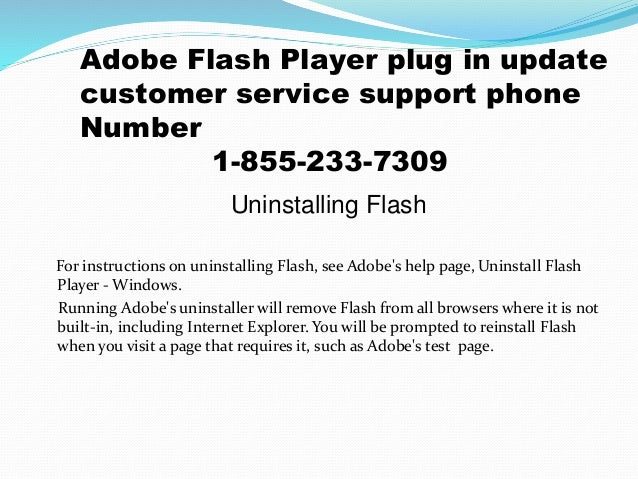 1-855-233-7309 Adobe flash player plug in update customer service pho…