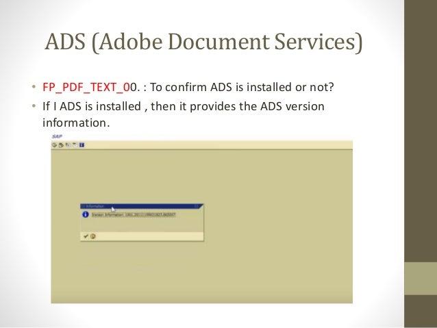 SAP Adobe forms
